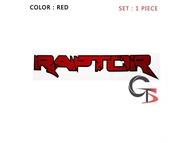 สติ๊กเกอร์ แร๊พเตอร์ Raptor แดง ดำ ใส่ Ford ranger  1 ชุด 2 ชิ้น  sticker Raptor