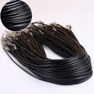 韓國潮流蠟線皮繩項鍊繩首飾品配件
