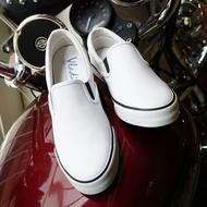 真皮休閒鞋,懶人鞋,小白鞋,台灣製造,男(白黑)