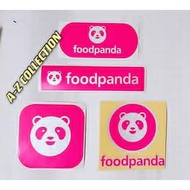 Food Panda / foodpanda Sticker Cutting Overlapping Reflective & Fluorescent #foodpanda