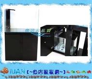 【~魚店亂亂賣~】LUANFISHOP超白玻璃4.2尺開放型玻璃缸(126×50x60cm)+底部過濾組-黑色