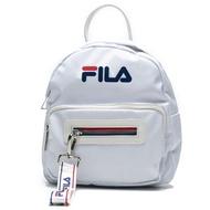 FILA BACKPACK BAG 白 藍 紅 基本款 尼龍 小包 後背包 女 (布魯克林) BPT9003WT