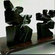 黑膽石雕太極(小) 老件