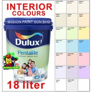 18L ( 18 LITER ) PENTALITE DULUX PAINT COLOURS OF THE WORLD AKZONOBEL / FOR INTERIOR PAINT