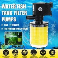 12W 1000L/H Aquarium Submerisble Filter Water Pump for Fish Tank Pond Water Gardens Hydroponic Systems