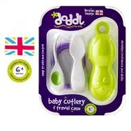 【英國Doddl】人體工學嬰兒學習餐具二件組