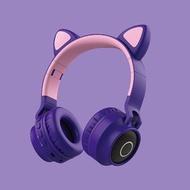 BT028C超萌貓耳發光無線頭戴式藍牙耳機  炫動發光 立體聲 TF卡/FM收音機/AUX播放 頭戴式折疊藍牙耳機 贈品禮品交換禮物