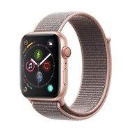 AppleWatch Series4 GPS+Cellular, 44mm Gold Aluminium Case Pink Sand Sport Loop [iStudio by UFicon]