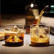 威士忌山型玻璃小酒杯 心悠靜享小山杯 日式烈酒洋酒品酒杯 耐熱高硼硅茶杯 水杯 玻璃杯 【ZK0311】《約翰家庭百貨
