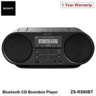 Sony ZS-RS60BT Portable Bluetooth Boombox Player Speaker NFC CD FM Radio Local 12 Months Warranty