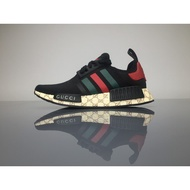 adidas black gucci x nmd r1 joint edition popcorn casual shoes sneakers