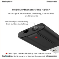 [Ready Newhopetree] 5.0 Bluetooth Transmitter Receiver TV 2 IN 1 3.5mm Stereo Audio USB For Car PC