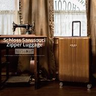 【德國納莎登NaSaDen】新無憂系列-29吋羽量拉鍊行李箱_帕倫咖啡金