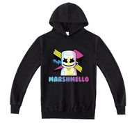 2020 ใหม่ 10yrs ผ้าฝ้ายกีฬา H oodies เกมการ์ตูน Marshmello เด็กเสื้อผ้ายามเสื้อเสื้อกันหนาว b929 8yrs 6yrs 4yrs hoodies