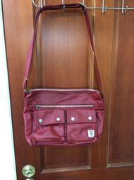 Porter International 斜背帆布包-甜蜜紅