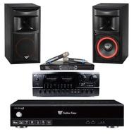 【金嗓】GoldenVoice A5+BT-889 PRO+MR-865 PRO+XLS-6(4TB智慧點歌機+擴大機+無線麥克風+喇叭)