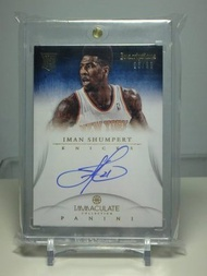 12-13 Immaculate Iman Shumpert RC Auto 新人年簽名卡 Lebron James隊友