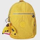 Kipling 簡約造型拉鍊開口尼龍後背包-黃色(現貨+預購)黃色