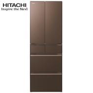 「最豪禮」加送EH-NA45吹風機 HITACHI 日立 RHW530JJ 冰箱 527L 六門 日本製 新1級能效 XH 琉璃褐
