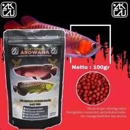 alikacu   pelet ikan arowana arwana super red 100gr   pakan ikan   makanan ikan arwana silver red arwana golden red