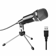FIFINE USB Microphone, Plug Play Home Studio USB Condenser Microphone for Skype, Recordings for YouT