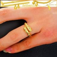 Gold Monkey King Curse Ring Men's a emas 916 tulen bajet nd Women's Gold Hoop Couple Ring Supreme Treasure Ring