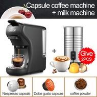 HiBREWเครื่องกาแฟแบบแคปซูล3 In 1เต็มเครื่องชงเอสเปรสโซ่อัตโนมัติร้อนเย็นทำฟองนมเครื่องชงกาแฟ