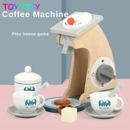 CODเมืองของเล่นแกล้งทำเป็นเล่น House ไม้จำลองห้องครัวกาแฟเครื่องคั้นน้ำผลไม้ไมโครเวฟผสม Miniทั้งชุดง่าย Dimple Art ของเล่นเด็กทำมือสำหร
