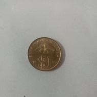 Malaysia RM1 old gold coin
