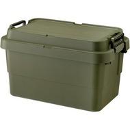 日本RISU【二代】TRUNK CARGO可堆疊耐重收納箱50L-綠色