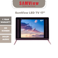 SamView LED TV 17 Inch With DVBT2 (Special Promotion) Piano Black
