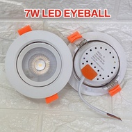 led downlight. 7W led eyeball focus sportlight recess led downlight round light