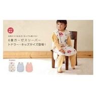 現貨 日本製 Hoppetta 蘑菇 六重紗布 防踢被 背心 L號 大童2~7歲 六重紗蘑菇防踢被 幼童版