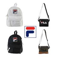 FILA經典款 LOGO 帆布 小後背包 小側背包