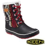 Keen Elsa Boot WP 女 休閒保暖靴 黑/彩色 1013727 雪鞋.雪靴 (內厚鋪毛) 防滑鞋底