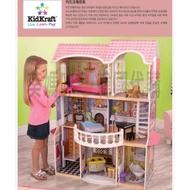 自取免運🇰🇷韓國境內版 Kidkraft 大型 木製 粉色 芭比娃娃屋 房子 娃娃屋 陽臺 家家酒 玩具遊戲組❤