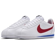 【NIKE 耐吉】WMNS CLASSIC CORTEZ LEATHER 女鞋 阿甘鞋 休閒鞋  白 紅 807471103
