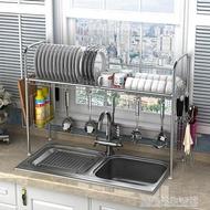 304不銹鋼碗架水槽瀝水架廚房置物架用品用具收納架碗碟架