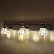 led鏡前燈現代簡約浴室衛生間不銹鋼防水防霧壁燈化妝鏡鏡櫃燈具  名購居家  ATF