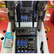 ☀YAMAHA 4 CHANNEL MIXER POWER WITH WIRELESS MICROPHONE G4♩
