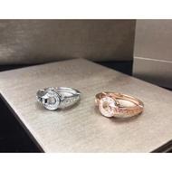 BV Bulgari Rings Ring Diamond Rings Perfectly Engraved High-end Fashion Rings All-match White Rings