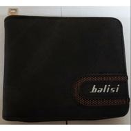 Balisi極簡質感超強收納拉鍊多功能短夾錢包
