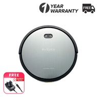 Suzuka Pro Robotic Vacuum and Mop Cleaner, 2500Pa Super Power Suction & Wi-Fi Connectivity and Smart Navigating Robot Vacuum with 2600mAh Battery Capacity for Pet Hair, Carpet & Hard Floor