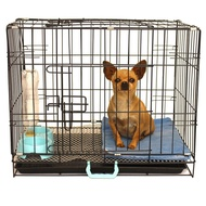 Dog cage small dog medium sized dog Teddy dog cage with toilet indoor chicken cage rabbit cage cat cage pet folding cage