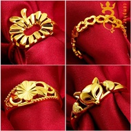 Lady opening 916gold ring 916gold love ring