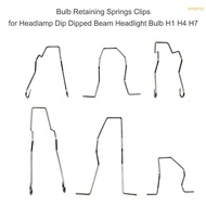 Toolgoing Bulb Retaining Springs Clips for Headlamp Dip Dipped Beam Headlight Bulb H1 H4 H7