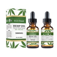 30ml/5000mg High-dose Hemp Seed Oil HEMP CBD OIL Soothing Massage Essential Oil Herbal Drops