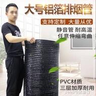 抽油煙機排煙管伸縮軟管地下室排風通風管200/350/400/500煙道管 -露露生活館