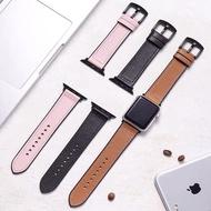 หนังแท้ สายนาฬิกา applewatch สายนาฬิกาสำหรับApple watch ใส่ได้ series SE/6/5/4/3/2/1 มี2ขนาด 38/40mm 42/44mm