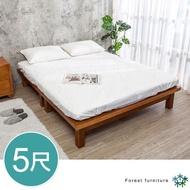 【BODEN】森林家具 柯特5尺雙人全實木床底(不含床頭片及床墊)